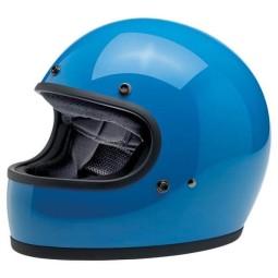 Motorcycle helmets Biltwell Gringo Tahoe Blue ,Vintage Helmets
