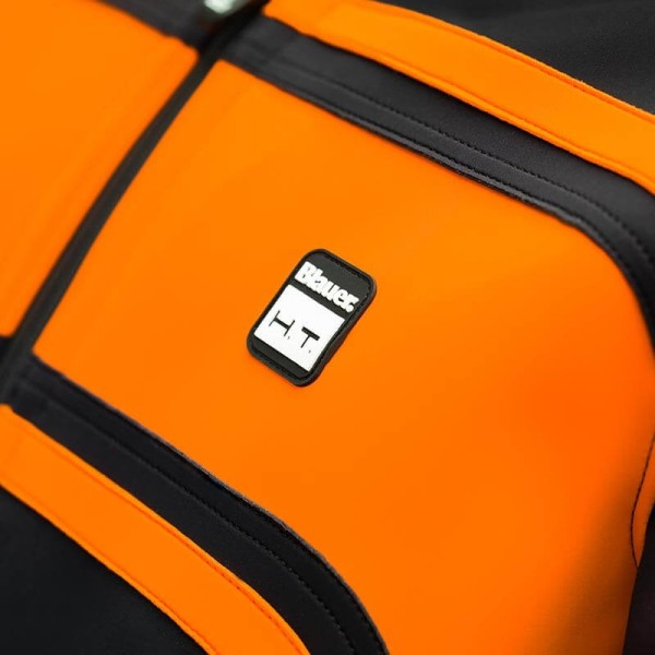 Motorrad-Stoffjacke BLAUER HT Easy Rider Orange