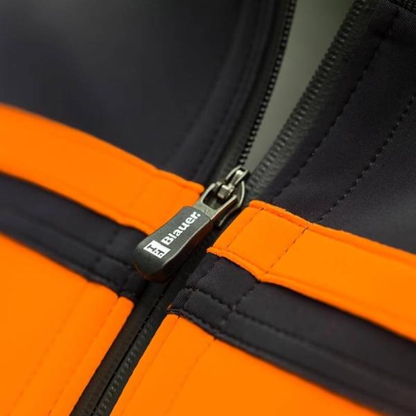 Blouson Moto Tissu BLAUER HT Easy Rider Orange