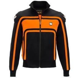 Motorrad-Stoffjacke BLAUER HT Easy Rider Orange ,Motorrad Textiljacken