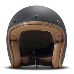 DMD helmet Pillow jet matte black brown, Jet Helmets