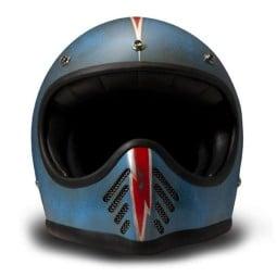 Casco moto DMD Seventy Five Arrow Blue, Cascos Vintage