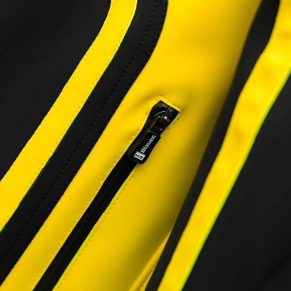 Motorrad-Stoffjacke BLAUER HT Easy Rider Yellow