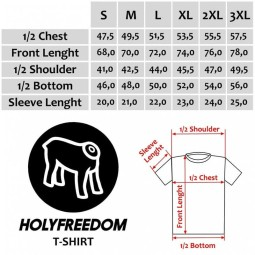 Holy Freedom T-shirt Cherva Yellow Navy ,T-Shirts