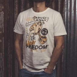 T-shirt Holy Freedom Adults Only blanco, T-Shirts