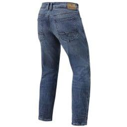 Jeans moto Revit Detroit TF bleu foncé, Jeans de moto
