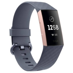Sportuhren Fitbit Tracker Charge 3 grau pink, Smartwatch