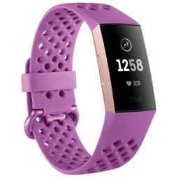 Fitbit bracelet connecté Tracker Charge 3 framboise