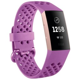 Fitbit Tracker Charge 3 frambuesa relojes deportivos digitales, Smartwatch