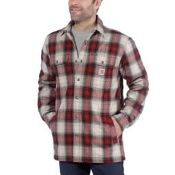 Carhartt Hubbard Sherpa lined Plaid shirt