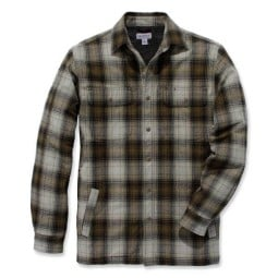 Camicia Carhartt Hubbard Sherpa lined olive, Camicie