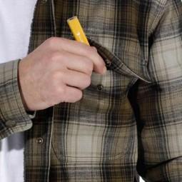 Carhartt Hubbard Sherpa lined Plaid shirt olive, Shirts