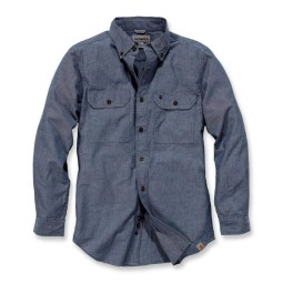 Camicia Carhartt Fort solid denim blue, Camicie