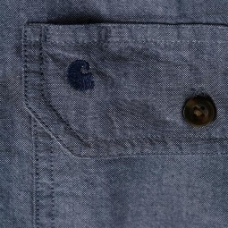 Carhartt Fort solid denim blue shirt