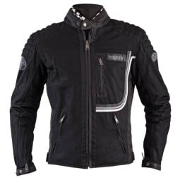 Summer motorcycle jacket Helstons Sonny black ,Motorcycle Textile Jackets