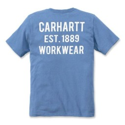 T-shirt Carhartt Graphic Pocket azul