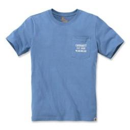 T-shirt Carhartt Graphic Pocket French blu, T-Shirts