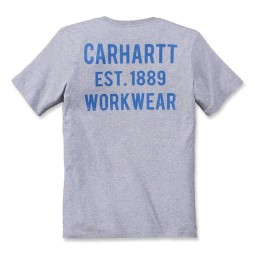 T-shirt Carhartt Graphic Pocket heather grau