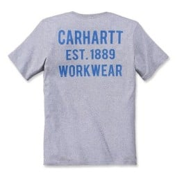 T-shirt Carhartt Graphic Pocket Heather grigio, T-Shirts