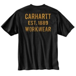 T-shirt Carhartt Graphic Pocket negro