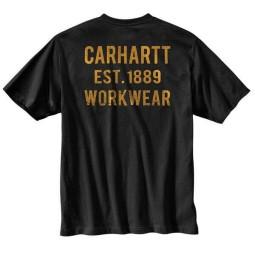 T-shirt Carhartt Graphic Pocket nera, T-Shirts