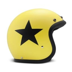 Casco moto DMD jet Vintage Star Yellow