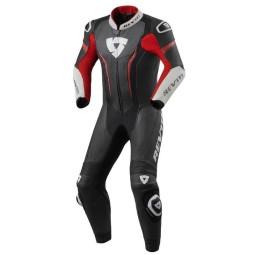 Tuta moto Rev it Argon nero rosso, Tute Moto Pelle