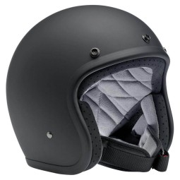 Motorcycle helmets Biltwell Bonanza flat black, Jet Helmets
