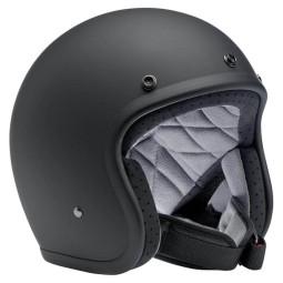 Motorrad helm Biltwell Bonanza mattschwarz