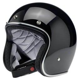 Motorrad helm Biltwell Bonanza gloss schwarz