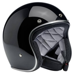 Motorrad helm Biltwell Bonanza gloss schwarz, Jethelme