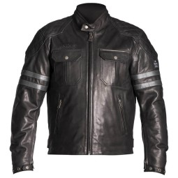Helstons Jersey motorcycle jacket black ,Leather Motorcycle Jackets
