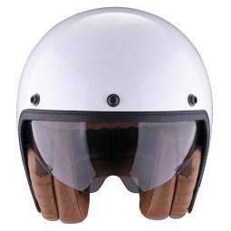 Motorrad helm Scorpion Belfast Luxe weiss