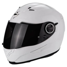 Motorcycle helmet Scorpion Exo-490 Solid white ,Helmets Full Face