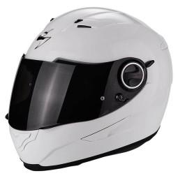 Motorrad helm Scorpion Exo-490 Solid weiss