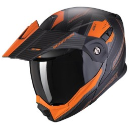 Motorrad helm Scorpion ADX-1 Tucson schwarz orange