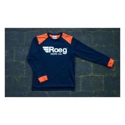 Camisa Roeg Moto Ricky azul naranja