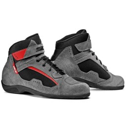 Sidi Duna Schuhe grau rot, Motorrad Touring Stiefel
