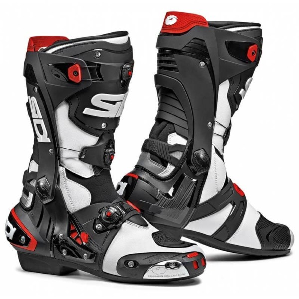 Sidi Rex boots white black, Motorcycle Racing Boots