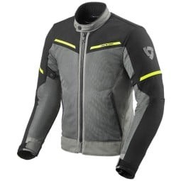 Motorcycle jacket Revit Airwave 3 grey black, Motorcycle Textile Jackets