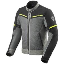 Motorradjacke Revit Airwave 3 grau schwarz, Motorrad Textiljacken