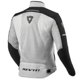 Motorcycle jacket Revit Airwave 3 silver black, Motorcycle jackets