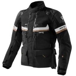Motorcycle Jacket Revit Dominator GTX black, Motorcycle jackets