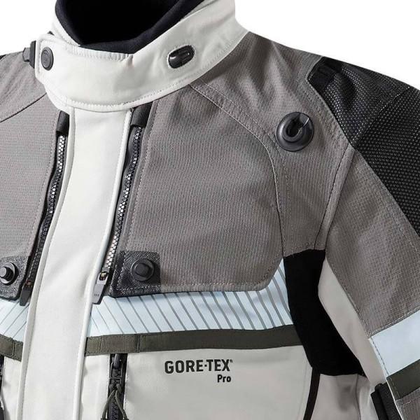 Motorcycle jacket Revit Dominator GTX grey green