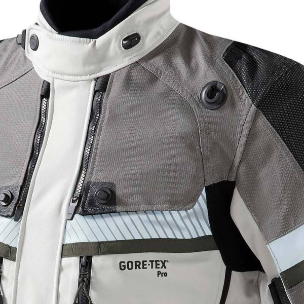 Veste moto Revit Dominator GTX gris vert