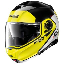 Nolan n100 5 Ncom Distinctive black yellow helmet, Modular Helmets
