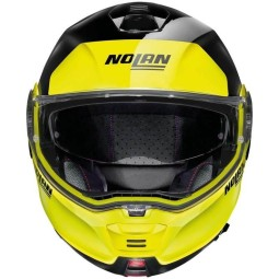 Nolan n100 5 Ncom Distinctive black yellow helm, Klapphelme