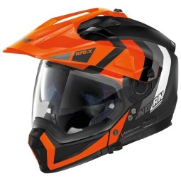 Casco modular Nolan N70-2 X Decurio black orange