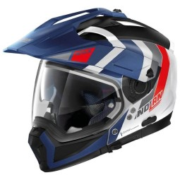 Casco modulare Nolan N70-2 X Decurio white blue
