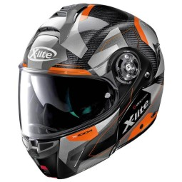 Klaphelm X-Lite X 1004 Dedalon carbon black orange, Klapphelme